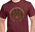 40th Aniversary T-Shirt - Maroon
