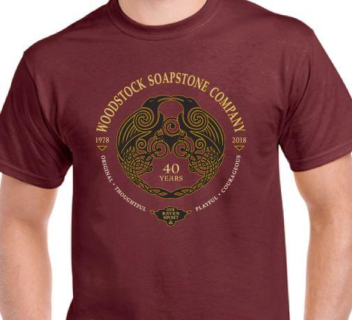 40th Aniversary T-Shirt - Maroon