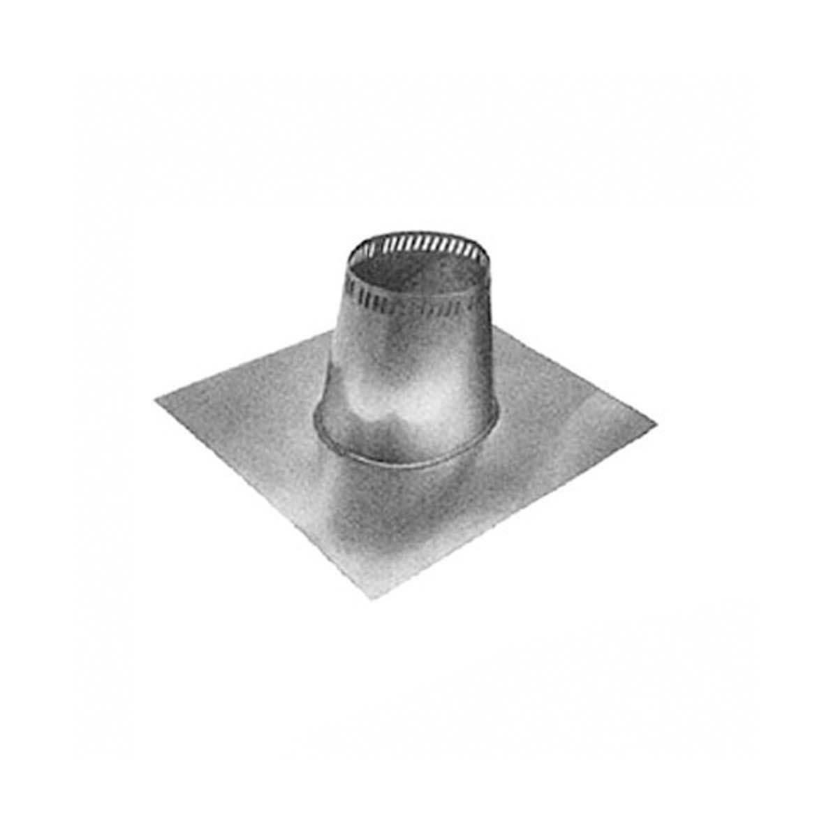 Flat Tall Cone Roof Flashing (0-12 2/12)